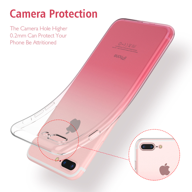 FLOVEME For iPhone 6 6S iPhone 7 8 Plus Ultra Thin Cases Crystal Clear TPU Phone Cases For iPhone 5S iPhone 5 SE hoesje Fundas 4