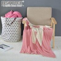 Crochet Strick Decke Baumwolle Handgemachte Gewinde Decke Little Bear Werfen Bett Wrap Super Weiche Warme Atmungsaktive Kinder Handtuch Bettwäsche