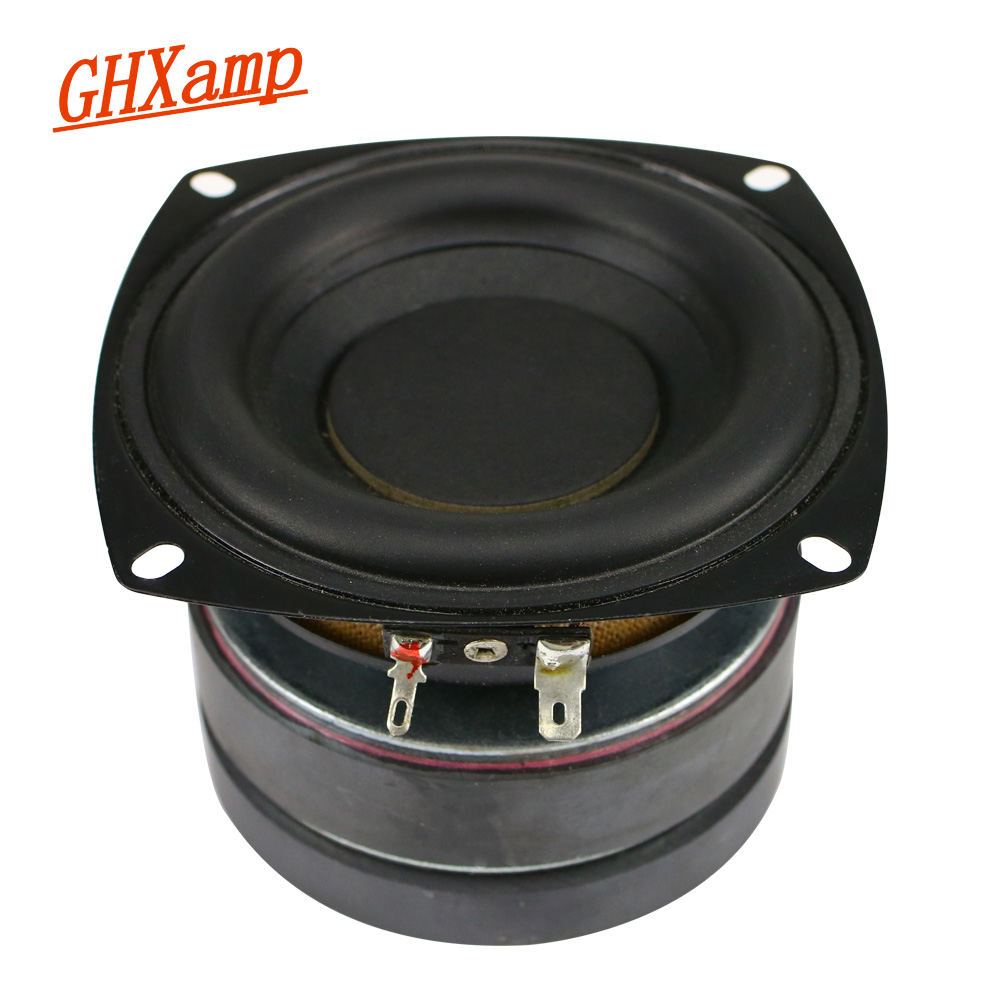 GHXAMP 4 Inch Subwoofer Car Speaker Hifi 6ohm 50W Deep Bass Long Stroke Rubber Edge Double