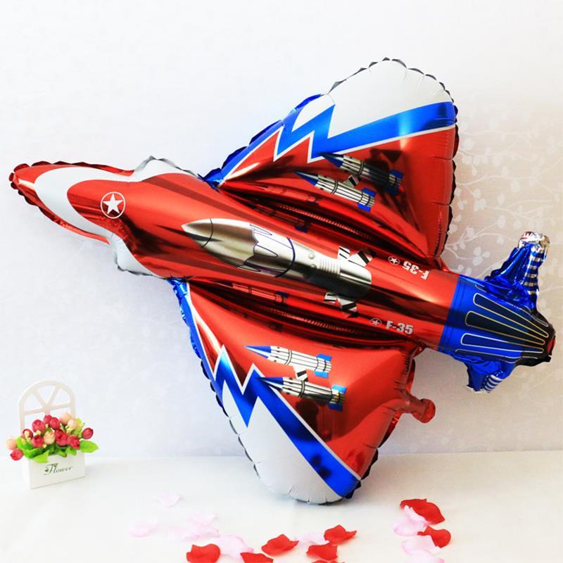 gran avión de combate en forma de globo fiesta de cumpleaños decoración SPES