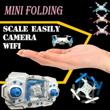 2016 The newest WiFi phone to watch folding RC mini drone with camera quadcopter with camera 6 channels High-definition aerial