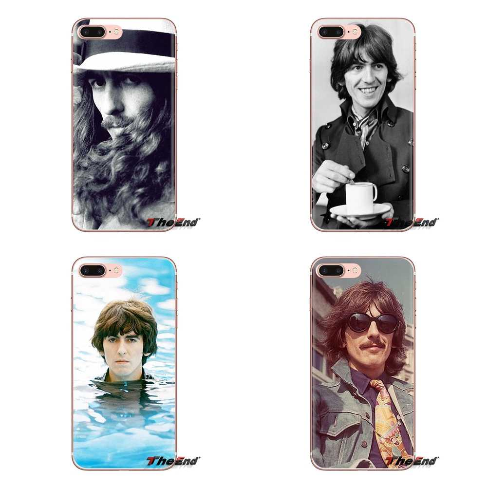 De silicona teléfono bolsa caso para iPod Touch Apple iPhone 4 4S 5 5S SE 5C 6 6S 7 7 8 X XR XS Plus MAX George Harrison mi Beatle favorito