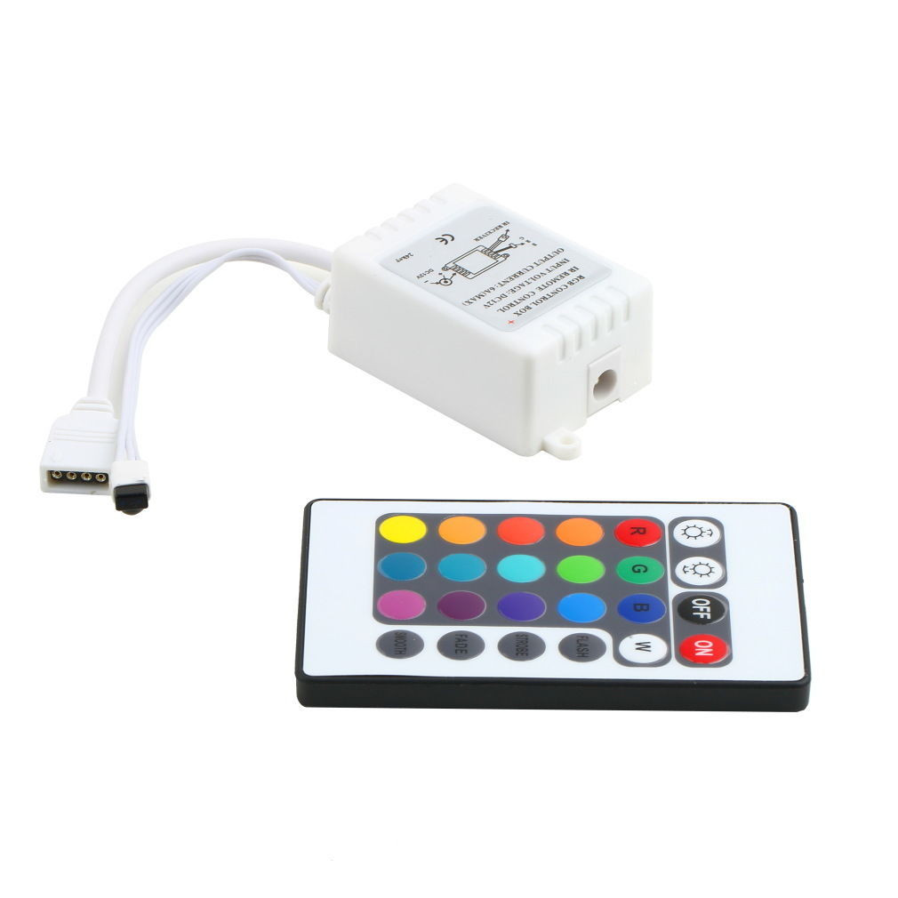 Infrared Mini 24 Key IR Remote Controller Wireless For RGB LED Strip Hallways Stairs Home Used