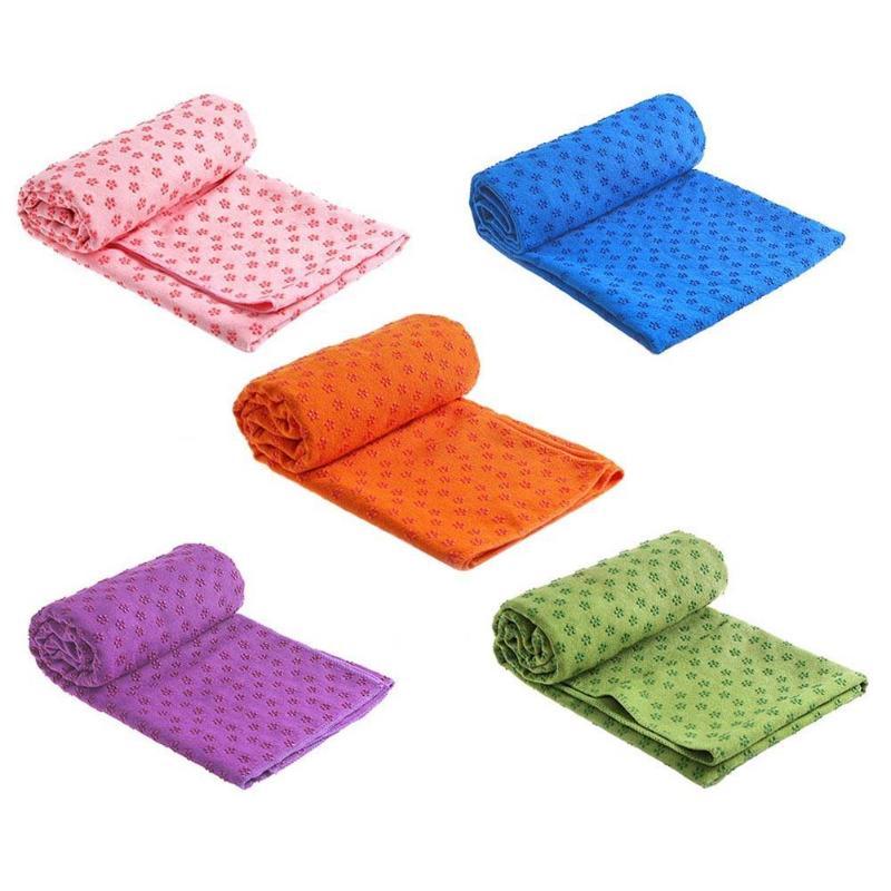 <+>  Нескользящий хлопок Коврик для йоги Коврик Слива Точка Смола Полотенце Одеяло Упражнение ✔