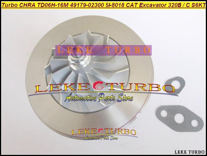 TD06H-16M 49179-02300 49179-02260 5I-8018 5I8018 Turbo Cartridge CHRA For Caterpillar CAT 320B 320L S6K S6KT Earth Moving 3066T  цены