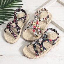 Children Sandals Girls Princess Beautiful Flower Shoes 2019 Summer Kids Beach Flat Baby Roman P30
