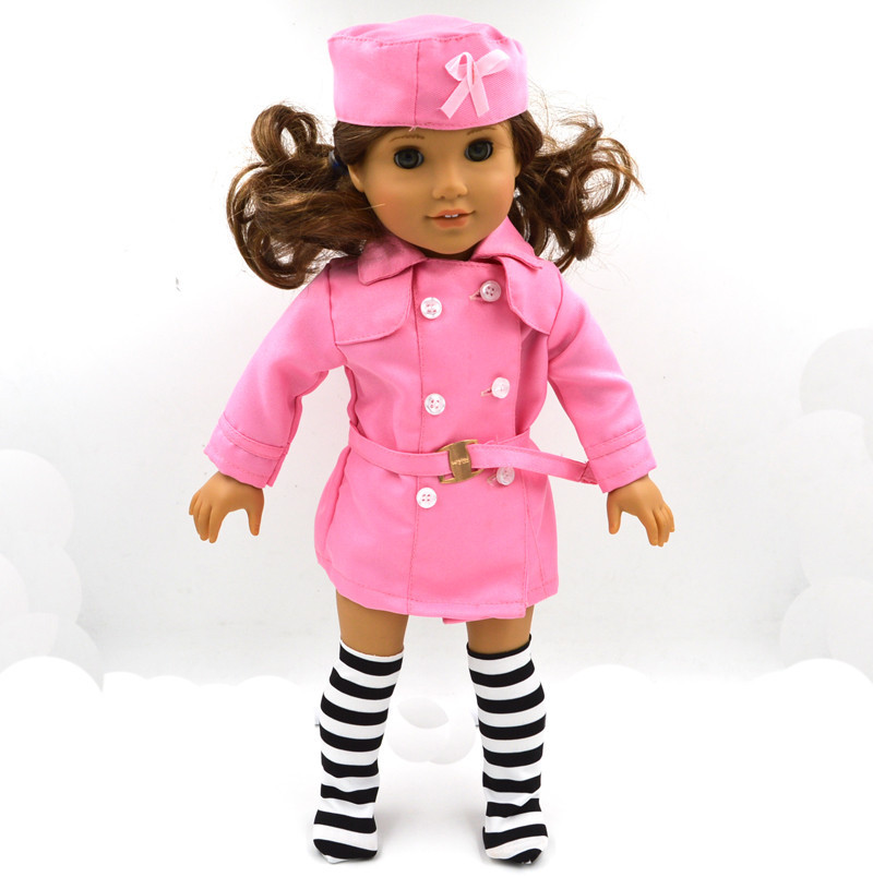 Новые модные розовые пальто для 18 дюймов American Girl Doll розовый Детский подарок кукла Интимные аксессуары B91