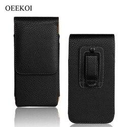На Алиэкспресс купить чехол для смартфона oeekoi belt clip pu leather waist holder flip pouch case for blackberry key2/motion/aurora/keyone/dtek60/priv