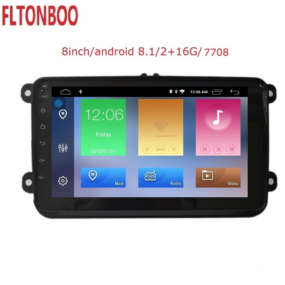 8 Android 9 Car GPS Navigation 2gb ram 7708 radio for VW Volkswagen GOLF 5 6