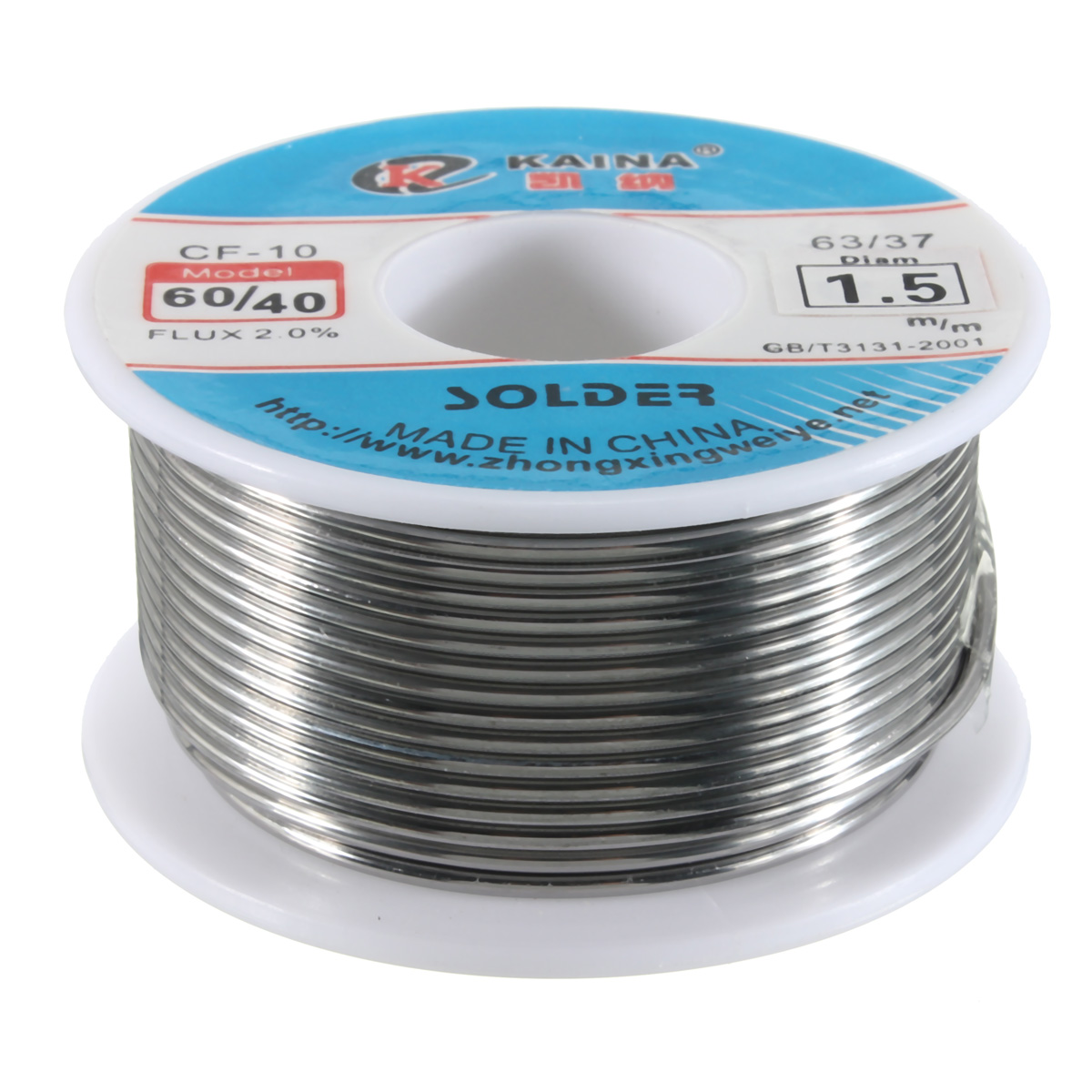 100g 1.5mm <font><b>60</b></font>/<font><b>40</b></font> Tin lead <font><b>Solder</b></font> Wire Rosin Core Soldering 2% Flux Reel Tube US image