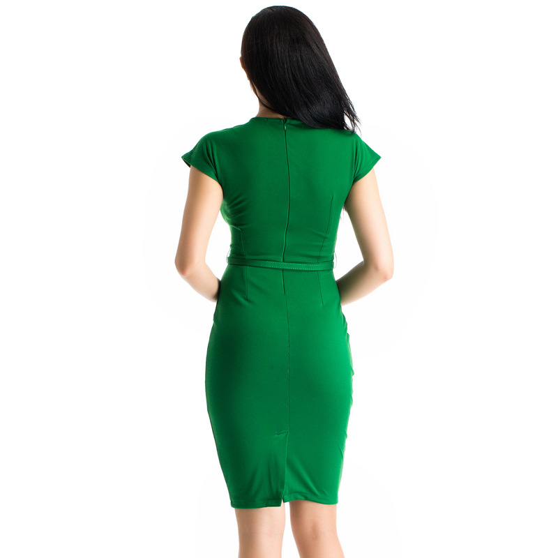 23fa97d7014d Autumn Winter Vintage 60s Emerald Green Mid Calf Dress Plus Size ...