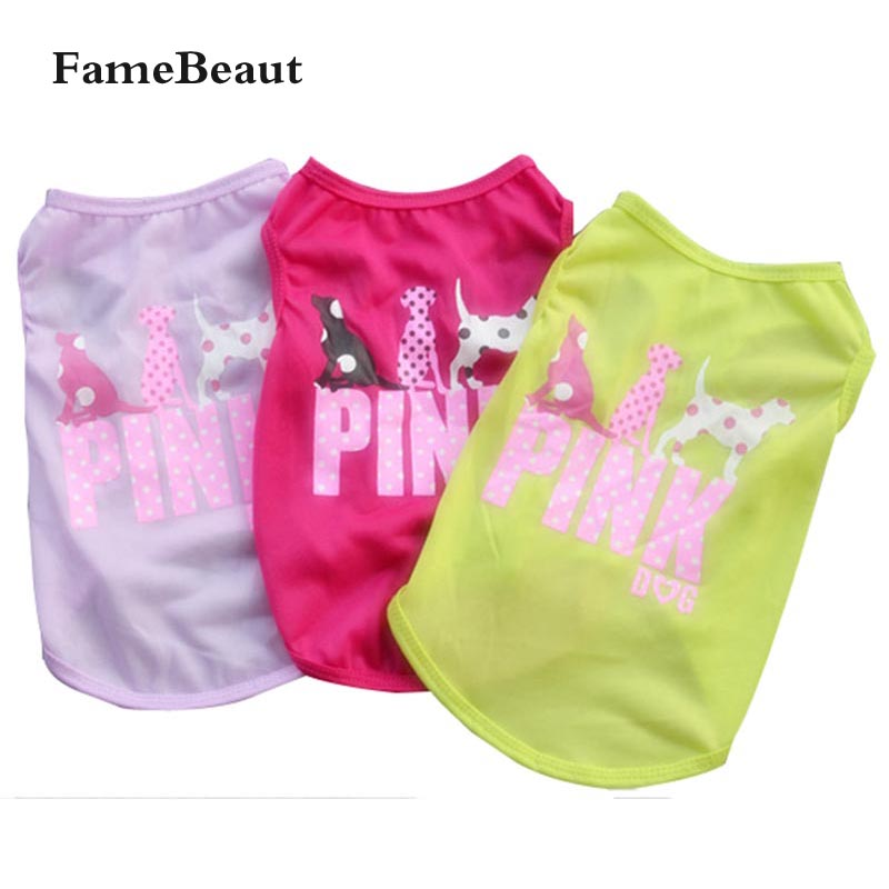 FameBeaut Dog Clothes Print Cartoon Pattern Pet T-Shirt Clothing Summer Breathable Cozy Pet Vest Clothes for Dogs All Season