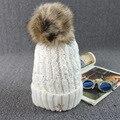 Южная Корея толстые шерстяные hat молодая женщина корона Блесток осень зима путешествия плюс теплый кашемир волосы мяч трикотажные рукава cap M215