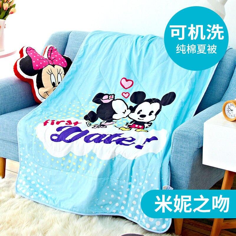 Disney Blanket Quilt 100% Cotton Cartoon Spring Summer Autumn girl boy baby  Nap Thin quilt washed cotton children quilt gift