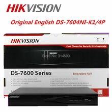 Hikvision Original English DS-7604NI-K1/4P 4CH 4K NVR 1SATA and 4 POE ports H.265 Embedded Plug & Play NVR  Hkivision NVR