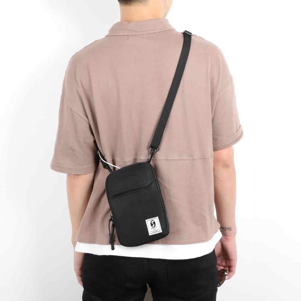 Men Mini Square Shoulder Bag Tote Hip Hop Fashion Mobile Phone Casual Crossbody Messenger Bags Pouch Travel Wallet Small Handbag