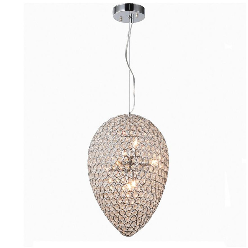 Lustre Crystal LED Pendant Lamp Modern K9 Crystal Ball Egg Shape Lighting Fixture Hanglamp Contemporary Pendant Lights Abajour modern led crystal pendant lights fixtures magic crystal ball lustre loft stairwell 12 crystal light meteor shower crystal lamp