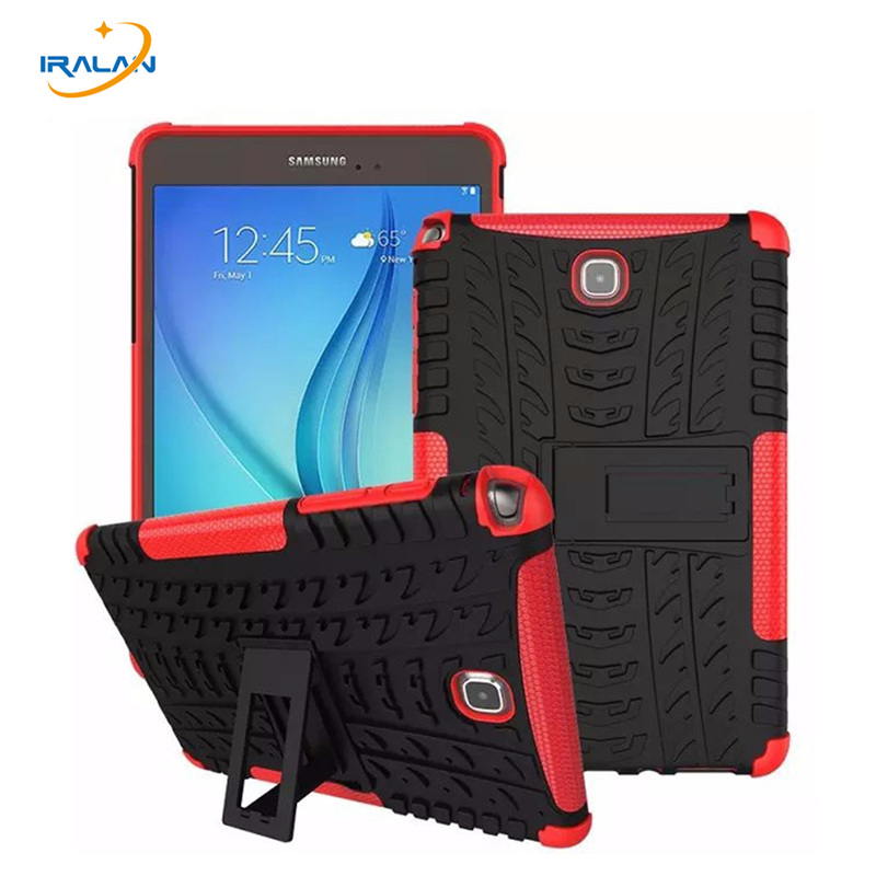Hybrid Stand Hard PC+TPU Rubber Armor Case Cover For Samsung GALAXY Tab A 8.0 T350 T351 SM-T355 Tablet case+screen film+pen+OTG
