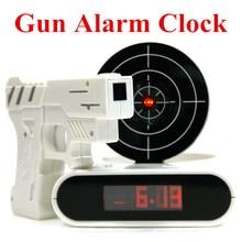 Gun Alarm Clock – Cool Tech Gadget  LCD  Digital Alarm Clock Creative  Home Decor Free Shipping