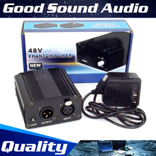EE.UU. Plug DC 48 V fuente de Alimentación Phantom Para Ordenador PC Wired Micrófono Dinámico Vocal Broadcasting Studio Micrófono de Grabación Del Condensador