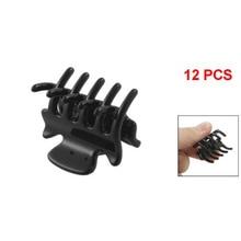 """12 יח '1.1 """"שחור ארוך פלסטיק מיני סיכות 10 Claws שיער קליפ מהדק עבור גבירותיי"""
