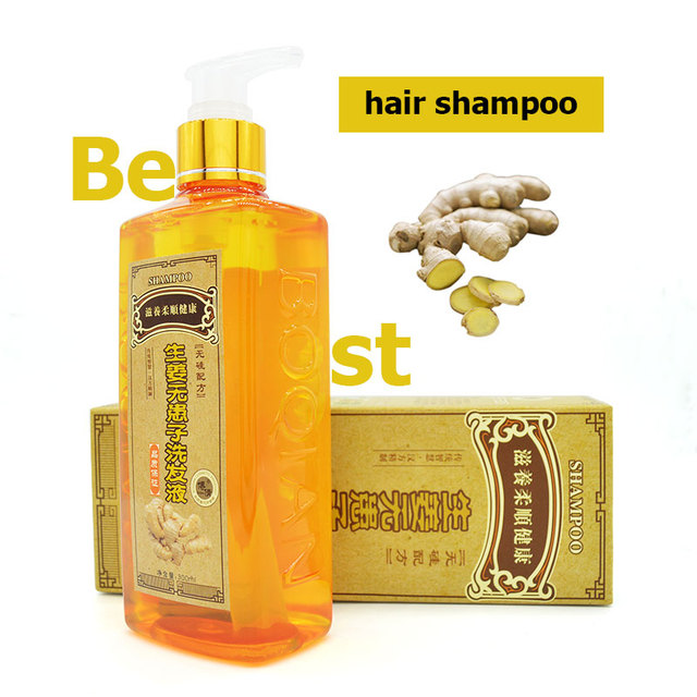 2016 new Ginger Professional Hair Shampoo 300ml, Hair regrowth Dense Fast,Thicker,Aussie Shampoo Anti Hair Loss Product