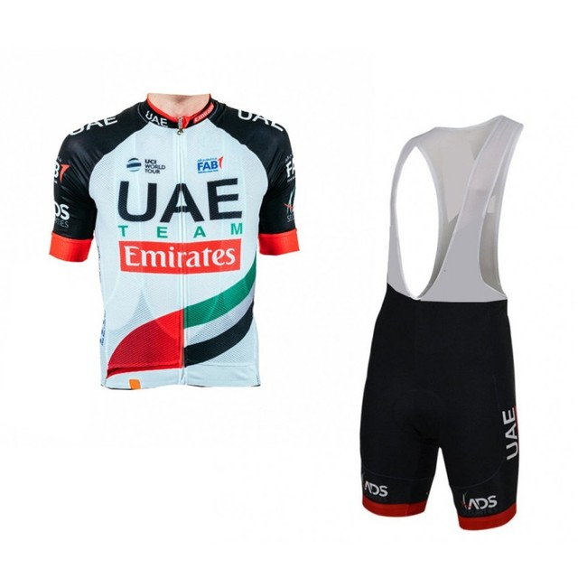 2018 pro tour team uae cycling jersey kits breathable mens summer bike  cloth MTB Ropa Ciclismo Bicycle maillot gel pad cf9a3282d