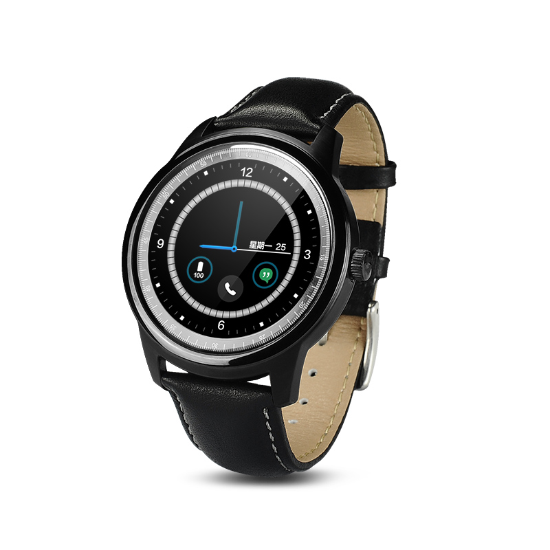New Arrival DM365 Bluetooth Smart Watch Full HD IPS Screen Leather Writstrap Smart Watches For Apple