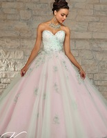 2019 Cheap Quinceanera Gowns Debutante Sweet 16 Princess Dresses Champagne Mint Green Pink Online Ball Gown 15 Years Dress