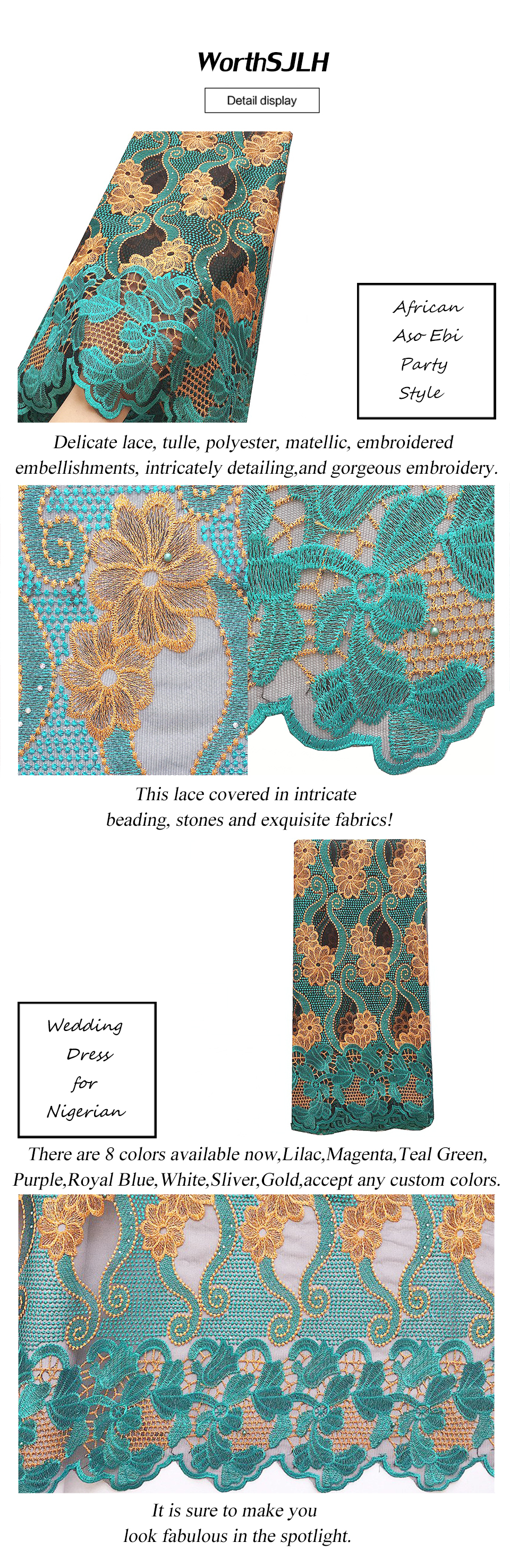 African Lace Fabric 2018 High Quality Lace