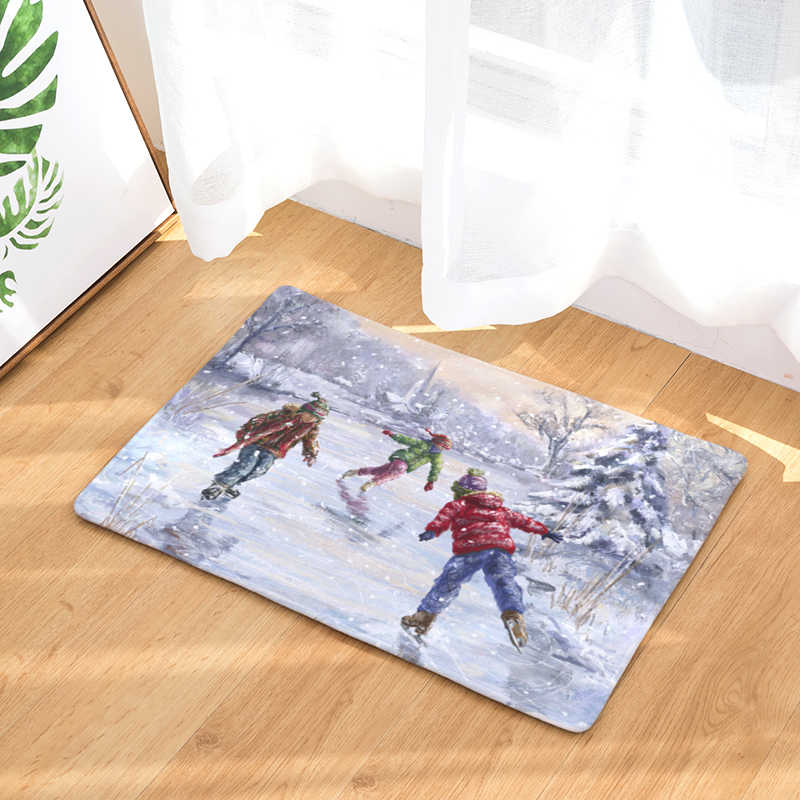 Zapraszamy mat boże narodzenie dywan Felpudos łazienka kuchnia dywan domu salon dywan dywan Antideslizante 40x60 cm 50x80 cm