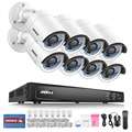 ANNKE 8CH 6.0MP PoE NVR Security System with (8) 4.0MP Weatherproof Cameras-NO HDD
