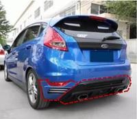 JIOYNG ABS Car Rear Bumper Lip, Auto Car Rear Diffuser For Ford Fiesta Hatchback 2009 2010 2011 2012 2013 2014 2015 2016