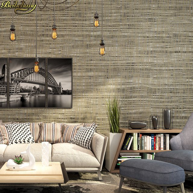 plain background wall bedroom sofa tv living simple khaki beibehang papel parede restaurant papers modern 3d zoom decor mouse