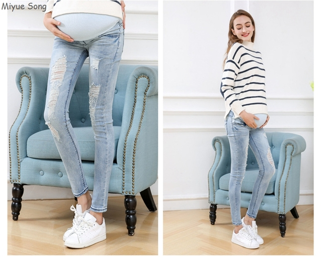 Maternity Pants For Pregnant Women Pencil Jeans 2018 Spring Autumn Belly Legging Pregnancy Trousers Overalls Clothes