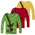 Children Clothing Little Boy Spring Shirt Cotton Cartoon Top T-Shirt Quality  Boy Kids Clothes