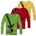 Crianças Pouca Roupa Camisa Primavera Menino de Algodão Dos Desenhos Animados T-Shirt Top Qualidade do Menino Roupa Dos Miúdos