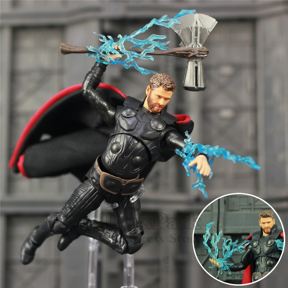 New Marvel Avengers Infinity War Endgame THOR 6 Action Figure With Storm Breake KOs S.H. Figuarts SHF Legends Odinson Doll ToysNew Marvel Avengers Infinity War Endgame THOR 6 Action Figure With Storm Breake KOs S.H. Figuarts SHF Legends Odinson Doll Toys