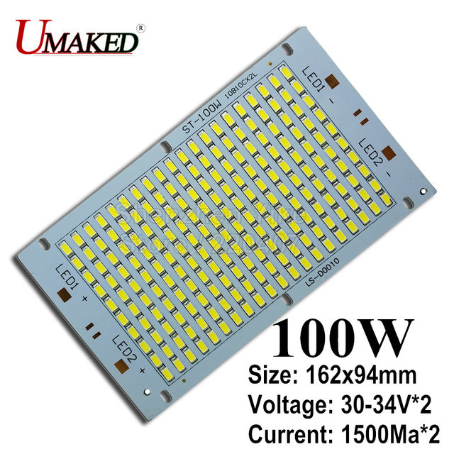 Outdoor Light Wattage 100 real wattage 100w 162x94mm led panel with smd5730 chip 10000lm 100 real wattage 100w 162x94mm led panel with smd5730 chip 10000lm leds pcb board workwithnaturefo