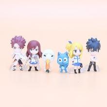 6pcs/set Fairy Tail Figure Toy