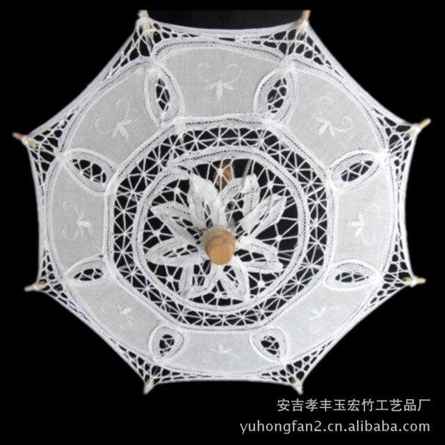 7824b9b29 Fashion Hot Sale White Wedding bridal Umbrellas bamboo Wedding Umbrella  Lace Parasols small vintage cottons white lace umbrella