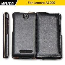 IMUCA Lenovo A1000 Флип Кожаный Телефон Case Коке для Lenovo A1000 крышка Люкс Вертикальный Флип Case Обложка для Lenovo A1000 A 1000