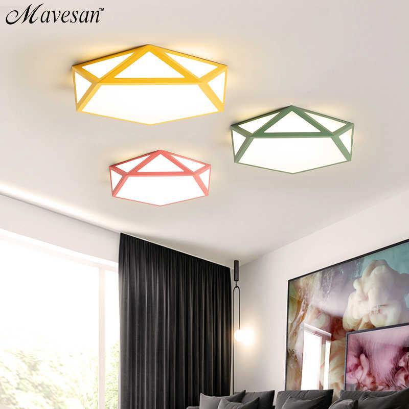 Современный светодио дный светодиодный потолочный светильник многоцветный арт светодио дный светодиодный пульт дистанционного управления потолочные светильники для гостиной семьи домашнего освещения