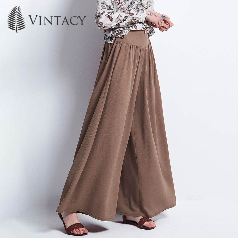 Women Casual Loose   Pant   Boho Khaki Oversize Summer Spring Trousers Female Holiday Elegant Holiday Beach Plain   Wide     Legs     Pants