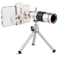 High Quality 18x Zoom Optical Telescope Telephoto Lens Kit Phone Camera Lenses With Tripod For IPhone