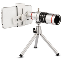 Cheaper High quality 18x Zoom Optical Telescope Telephoto Lens Kit Phone Camera Lenses With Tripod For iPhone 6 6s 7 8 Plus 5 5s SE 4 4S