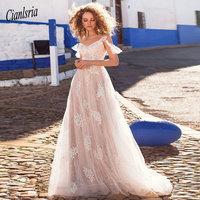 2019 Lace Wedding Dresses Vestido De Noiva Off the Shoulder Applique A Line Bride Dress Princess Wedding Gowns Robe De Mariee