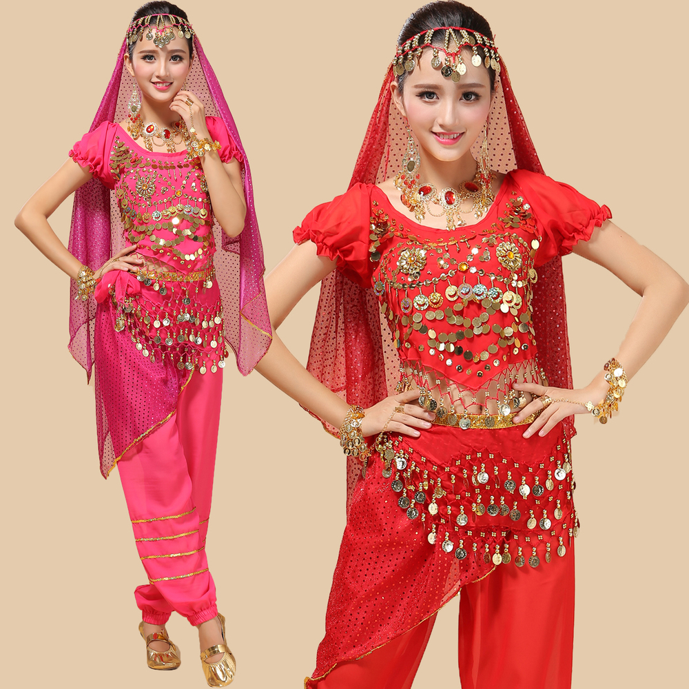 NEW Styke Sexy Oriental Belly Dance Costumes Bollywood Indian Dress 4PCS Plus Size Dancewear Vestidos Suit For Women 6 Colors-in Belly Dancing from Novelty ...  sc 1 st  AliExpress.com & NEW Styke Sexy Oriental Belly Dance Costumes Bollywood Indian Dress ...
