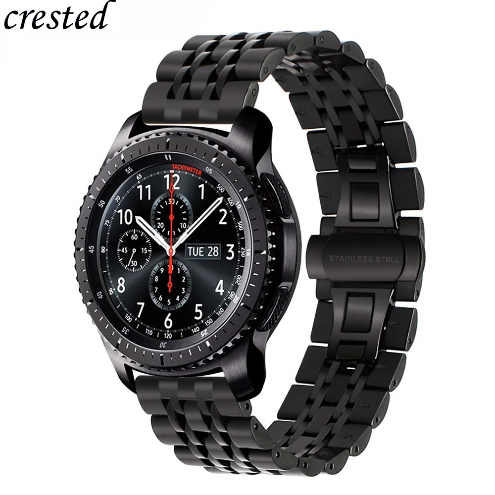 Gear S3 Frontier band for Samsung Galaxy watch 46mm strap 22mm Stainless steel bracelet Huawei watch GT strap Gear S 3 46 mmGear S3 Frontier band for Samsung Galaxy watch 46mm strap 22mm Stainless steel bracelet Huawei watch GT strap Gear S 3 46 mm