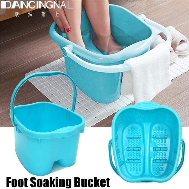 Plastic foot bath Large Foot Tub Household Footbath Barrel Blue ...